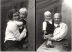 Barbaa med barnebarnet Anders og dattera Margrethe.
